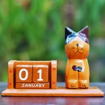 'Brown Cat Calendar
