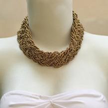 'Gold Beads Plaited