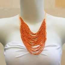 'String Chain with Orange Beads