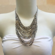 'String Chain with Silver Beads