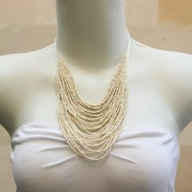 'String Chain with White Beads