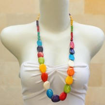 'Rainbow Pear Half Chain