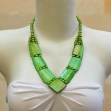 'Green Bone V Neck Chain
