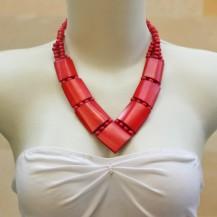 'Red Bone V Neck Chain