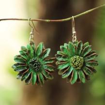 'Green Sun Flower 3