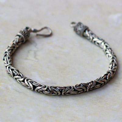 'Plain Silver Chain Bracelet 2