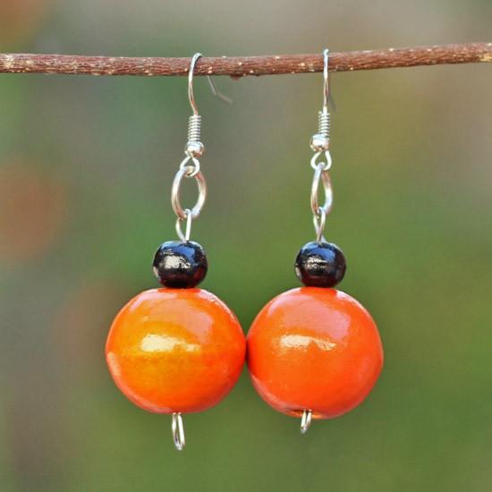 Orange Wooden Balls