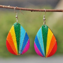 'Pear Rainbow Painted