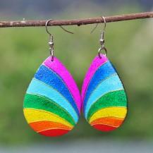 'Pear Rainbow Painted 2