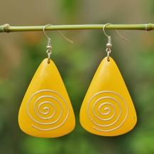 'Yellow Triangle Spiral