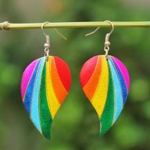 'Heart Separated Rainbow Stripe