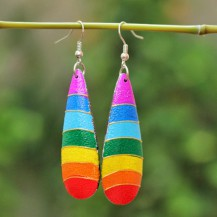 'Rainbow Stripe Wooden 2