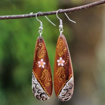 'Wooden Flowery Painted 3