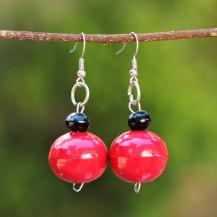 'Red Wooden Balls