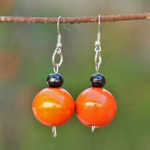 'Orange Wooden Balls