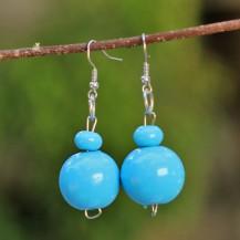 'Blue Wooden Balls